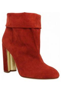 Bottines Pura Lopez AP241 velours Femme Rouge(127989720)