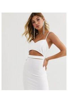 Fashionkilla - Vestitino per uscire bianco con cut-out in vita(124801540)