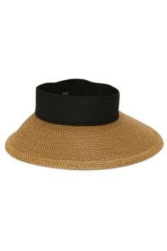 Eric Javits Kadın Bej Siyah Hasır Dokulu Şapka EU(114438741)