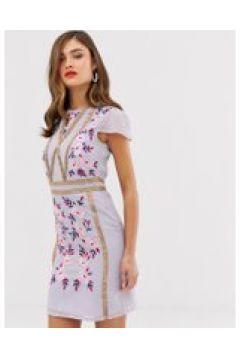 Frock & Frill - Hemdkleid mit Stickerei-Verzierungen - Violett(88937458)