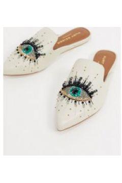 Kurt Geiger London - Olive - Scarpe basse decorate con occhio in pelle bianche-Bianco(121708026)