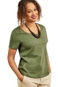 T-shirt Woolovers T-shirt à encolure dégagée et manches courtes Femme Jersey(115541547)