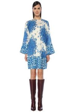 Valentino Kadın Mavi Beyaz Karışık Desenli İpek Tunik 42 IT(118374780)