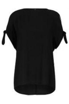 Kurzarmbluse Bluse mit 1/2-Arm Emilia Lay schwarz(115851541)