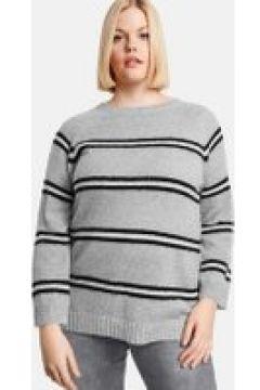 Sweter w paski Szary 48/XL(115894489)