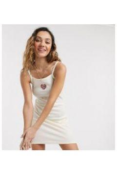 Santa Cruz - Vestito con cuore crema - In esclusiva per ASOS(120332632)