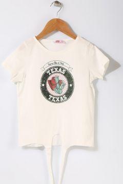 Pink&Orange Çocuk Yazılı Beyaz T-Shirt(113957734)