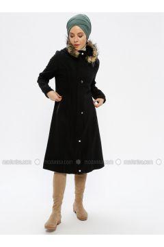 Black - Unlined - Topcoat - Beha Tesettür(110319630)