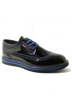 Forza 1118 Siyah Saks Mavi Rugan Erkek Klasik Ayakkabı(110961991)