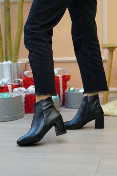 Marjin Siyah Kadın Anta Topuklu Bot(121224692)