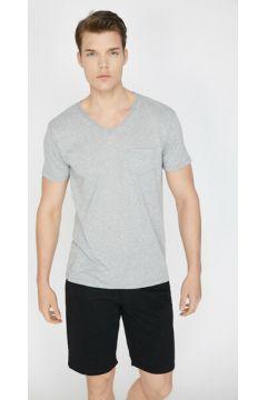 Koton Erkek Cep Detayli T-Shirt(113411072)