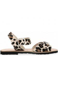 Sandales Minorquines Sandales en cuir léopard(98468114)