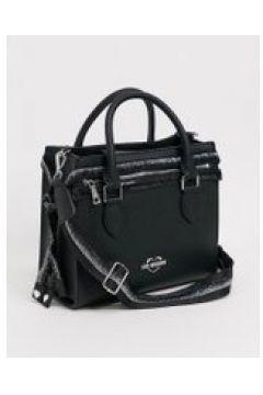 Love Moschino - Maxi borsa con tracolla nera-Nero(120399116)