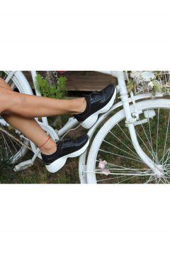 Dizzy Kadın Siyah Taş Likralı Sneaker Ayakkabı(119135236)