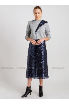 Navy Blue - Skirt - NG Style(110341174)