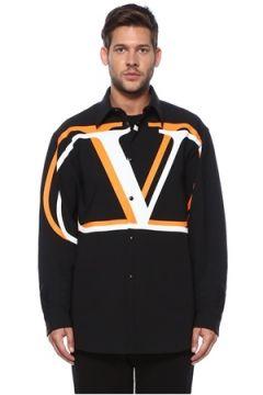 Valentino Erkek Vring Siyah İngiliz Yaka Mont Turuncu 46 IT(118643047)