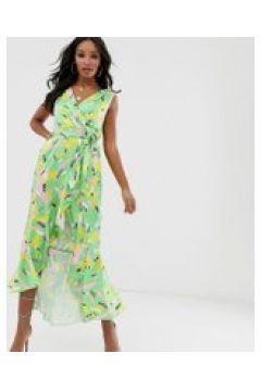 Flounce London - Wickel-Midaxi-Kleid mit Mustermix - Mehrfarbig(91218000)