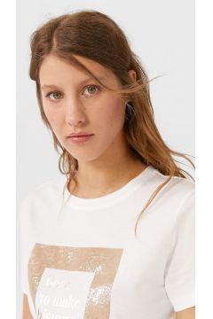 Stradivarius T-shirt imprimé FEMME Blanc XS(116922113)