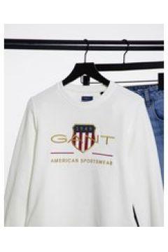Gant - Felpa con stampa colore bianco(124805315)