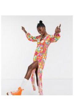 ASOS MADE IN KENYA - Vestito lungo tye-dye fluo-Arancione(120855985)