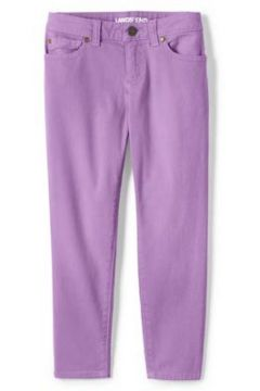Verwaschene Skinny Jeans für Mädchen - Lila - 122/128 von Lands\' End(108055263)