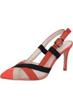 Sandales Guido Sgariglia sandales rouge textile beige daim BZ315(115394102)