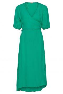 Ditsy Midi Wrap Dress Kleid Knielang Grün SOFT REBELS(114164408)