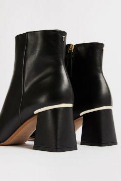 Square Toe Block Heel Boots(121675541)