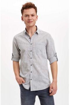 DeFacto Erkek Slim Fit Uzun Kollu Pamuklu Gömlek(119063212)