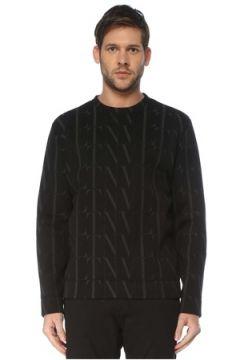 Valentino Erkek Siyah Logo Baskılı Sweatshirt S EU(127364728)