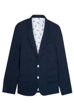 Veste Cavalier Bleu Blazer 2 pearly buttons palm trees lining Dark blue(127849870)