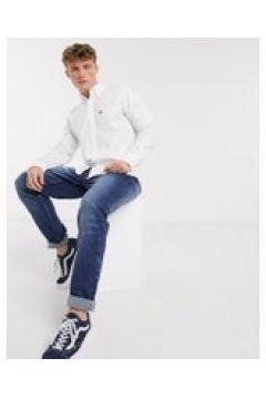 American Eagle - Camicia Oxford slim button-down bianca con aquila-Bianco(120255001)