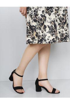 G.Ö.N Siyah Süet Kadın Sandalet(110973033)