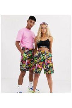 COLLUSION - Pantaloncini stile boxe unisex stampati - Multicolore(95042829)