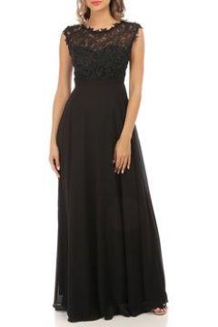 Robe La Modeuse Robe longue noire grandes tailles à dentelle(101612288)