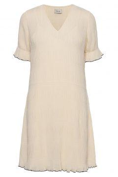 Lr-Jalina Kurzes Kleid Creme LEVETE ROOM(116951554)