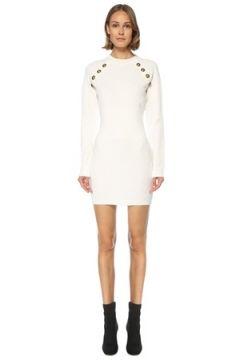 Balmain Kadın ELBİSE EUİKO Beyaz 42 FR(121680729)