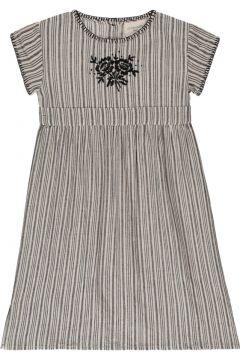 Langes Kleid mit Streifen Olivia(117873947)