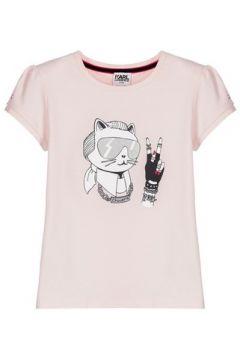 T-shirt enfant Karl Lagerfeld T-shirt rose(98528928)