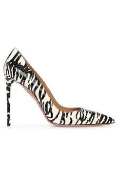 Aquazzura Kadın Purist Siyah Beyaz Zebra Desenli Deri Stiletto 36 EU(120498222)