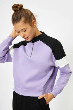 Koton Kadın Fermuar Detayli Sweatshirt(118035986)