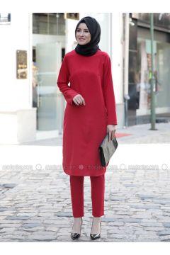Red - Unlined - Suit - Emsale(110320531)