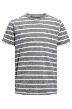JACK & JONES Organic Cotton T-shirt Men Grey(109139977)