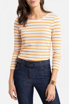 Camiseta a rayas, manga larga(108523125)