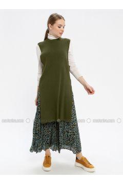 Khaki - Crew neck - Knitwear - REPP(110337764)