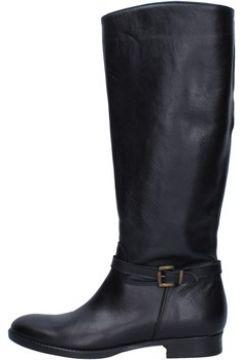 Bottes Trend bottes noir cuir AJ218(115399882)