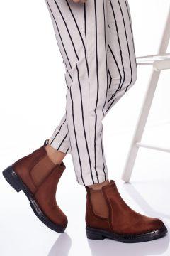 Ayakkabı Frekansı Kadın Taba Süet Bot(121162093)