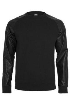 Sweat-shirt Urban Classics Sweat col rond à manches simili(127965881)