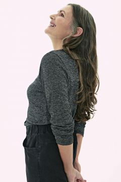 Kadın Desenli Düğmeli Tişört(127691016)