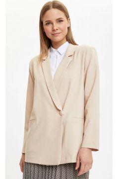 DeFacto Kadın Basic Tek Düğme Blazer Ceket(108988553)